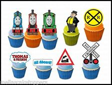 14 x Thomas and Friends  Edible Cake & Cupcake Toppers Edible Wafer Paper