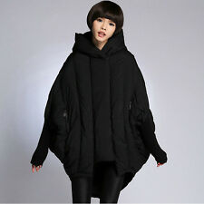 Stylish Women Loose 90% Duck Down Jackets Oversize Capa Poncho Thic Warm Coats