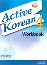 Active Korean 4 Workbook Korean Language Book with CD Seoul SNU