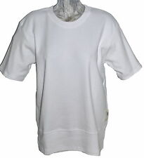 Dog Tired 100% Organic Cotton Oversized Slouch Lounge Top White Size Small NWT