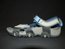 Timberland Leather Gray Blue Outdoor Sports Sandals Velcro  NEW Women's 9M