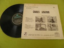 Charles Aznavour Et Voici - Aznavour Pictures In Israel ! RARE DIFFERENT 1964 LP