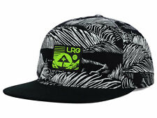 "LRG ""Force of Nature"" Snapback Cap (Black/White/Lime Green) Adjustable Hat - NEW"