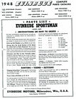 Parts List Manual 1948 Evinrude Sportsman Model 4425