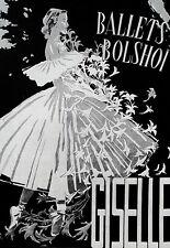 Art Poster Bolshoi Ballet Giselle Dance  Print