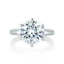 1.89CT Round Cut Diamond Solitaire Engagement Ring In 14K White Gold Certified
