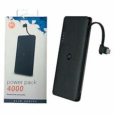 NEW Motorola P4000 Universal Portable Power Pack rapid battery charger 4000mAh
