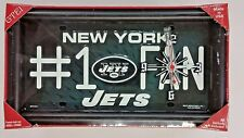 NFL, #1 Fan License Plate Clock, New York Jets (Green) New