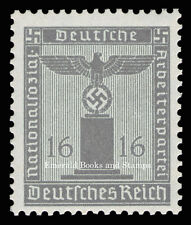 EBS Germany 1938 16 Pfennig Nazi Party Official Dienstmarke MNH Michel 151**