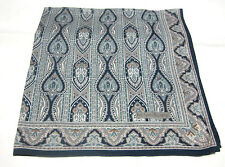 """USE-GRAY&BLUE  PAISLEY  PATTERN COTTON 18"""" HANKERCHIEF FOR MEN"""