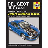 Haynes Peugeot 407 Diesel (04 - 11) 53 to 11 Service Manual 5550