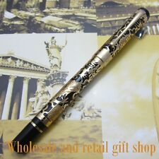 Jinhao Black and Gold Embossed golden dragon Pen High Quality Fountain Pen