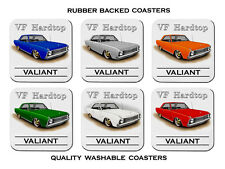 VALIANT VF  HARDTOP  COUPE  V8  REGAL    SET OF 6    RUBBER DRINK  COASTERS