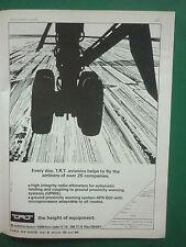 6/1977 PUB TRT AVIONICS AVIONIQUE AIRLINERS AIRLINE ALTIMETER PARIS AIR  SHOW AD