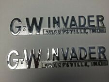 GW Invader Boat Emblems - NEW  OEM with brochures