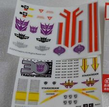 Hasbro Transformers Decal Sticker Set FOR Masterpiece MP11 MP03 Starscream