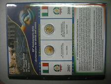 AGGIORNAMENTO ABAFIL x 2 EURO COMMEMORATIVI ITALIA 2007 2008 TOR + DIRITTI UMANI