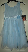 NEW Biscotti Girls Sequins Accented Top Light Blue Sleeveless Dress sz. 12