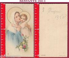 1780 SANTINO HOLY CARD MADONNA MARIA VERGINE CON GESù BAMBINO NB 6017