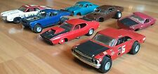 OLD VTG MODEL CAR TOY PLASTIC BUILT 427 FORD MUSTANG RACE PARTS REPAIR LOT OF 7