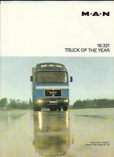 M.A.N. 19.321 TRUCK OF THE YEAR TRUCK LORRY ROAD TEST BROCHURE 1980 ENGLISH