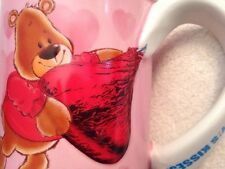 HERSHEYS KISSES Pink Hearts And Bears Cup Mug. 3D Candy Kiss