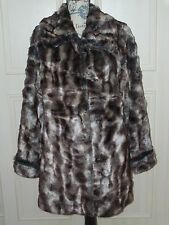 "NEW QVC DENNIS BASSO Faux Fur Coat  Size X Large  52"" Chest"