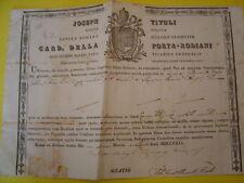 Document aux armes du Pape Grégoire XVI vicaire général de Rome