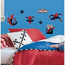22 New ULTIMATE SPIDERMAN WALL DECALS Spider Man Room Stickers Boys Room Decor