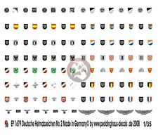 Peddinghaus 1/35 Stahlhelm German Steel Helmet Insignia WWII No.2 [Decal] 1679