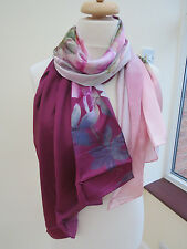 NEW!100%Silk Ted Baker London Pure Peony Long Silk Scarf -STUNNING Slight second