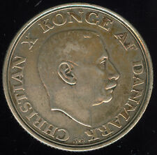 1945 DENMARK KING'S 75TH BIRTHDAY SILVER 2 KRONER