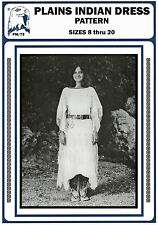 Women's Native American Plains Indian Dress sz 8-20 Eagle's View Sewing Pattern