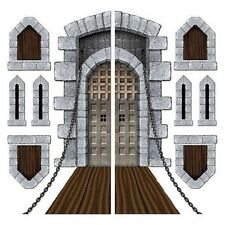 Insta Theme - Castle Door & Window Props Medieval or Halloween Decorations
