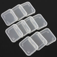 10Pc SD SDHC Memory Card Case Holder Box Storage Hard Plastic Transparent Holder