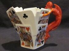 Royal Bayreuth Devil & Cards Milk Pitcher