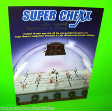 SUPER CHEXX By ICE INC.TABLE BUBBLE HOCKEY ORIGINAL PAPER PROMO SALES FLYER