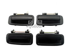4 Pcs Black New Outside Outer Door Handle For Toyota Corolla 88-92 DZ083080L/R
