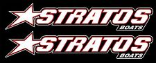"2 - 7.5"" x 1.5"" Vinyl Graphic Stratos Boat Decal Sticker Signs for Bass fishing"