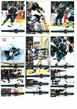 1X SAN JOSE SHARKS 2000-01 Pacific FULL TEAM SET Lots Available MARLEAU
