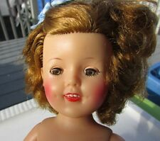 "Shirley Temple Doll 1957 Vinyl 12"" Doll Ideal Vintage High Color Makeup"