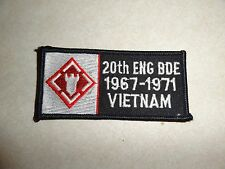 US MILITARY PATCH USAF 20TH ENG BDE 1967-1971 VIETNAM