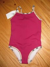 NWT BURBERRY RASPBERRY SORBET SWIMSUIT W/NOVA CHECK TRIM 3Y