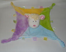 Baby Lamb Knotted Ends Security Blanket Pastel Purple Blue Tags Kids Preferred