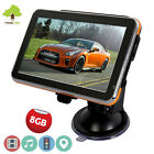 "8GB 5"" inch Car GPS SAT NAV Navigation System FM MP4 POI AU+UK+EU NEW FREE MAPS"