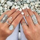 Europe Bohemian Armour Flower Carving Finger Shield Armor Band Ring Size7 Gift