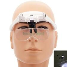 1.0X-3.5X 2-LED 5-Lens Zoom Headband Magnifier Magnifying Glass Loupe Jwewlry