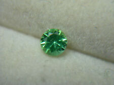 rare gem CHROME TOURMALINE Fine Green Tanzania Diamond Cut round Lively tc01