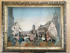 18th Century French Diorama with Decoupage Decoration College of St Mary, Oxford