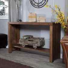 Distressed Rustic Console Table Reclaimed Wood Sofa Entryway Shelf Display Rich